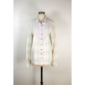 Free People We the Free plaid button up shirt